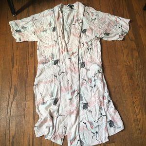 Forever 21 Bird Kimono Cardigan